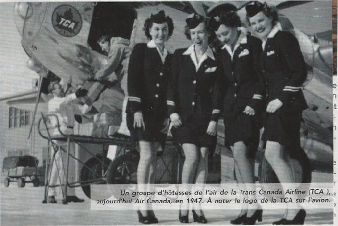 Groupe d'hôtesse de l'air en 1947