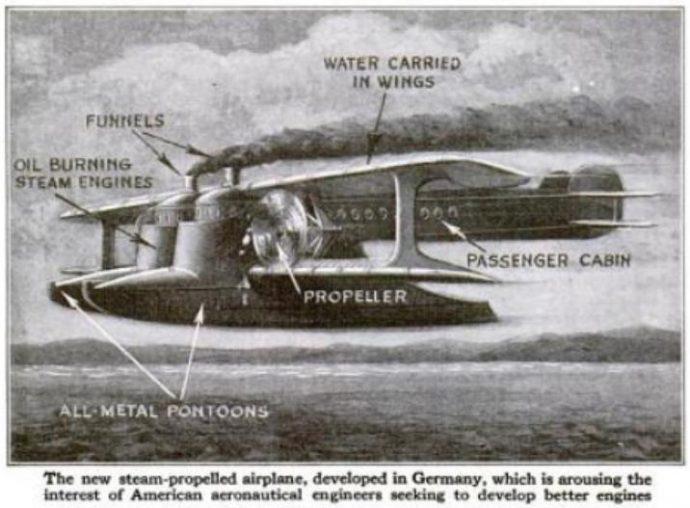 Un avion à vapeur
