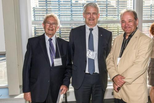 Nicholas Cavadias, Marc Garneau et Gilles Demers